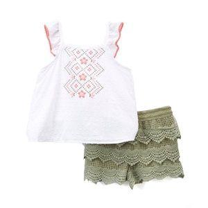 Nanette Kids White Tank & Lace Shorts